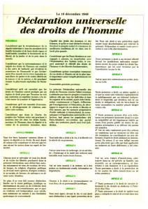 Déclaration universelle des droits de l'homme 1