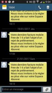 Rejet de prélèvement de Frédéric Simonet