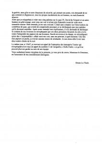 Lettre recomandée au directeur du Système U 2013