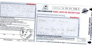 Récépissé d'envoi recommandé procureur le 8 juin 2018 090